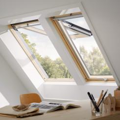 VELUX Dachfenster Klapp-Schwing-Fenster GPL Dachfenster Holz Kiefer