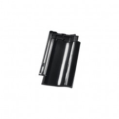Nelskamp Dachziegel F 12 Ü - Süd schwarz glasiert - Flachdachziegel