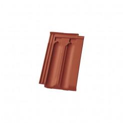Nelskamp NIBRA Doppelmulden-Falzziegel DS 10 rot engobiert