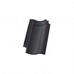 Nelskamp NIBRA H 10 schwarz-matt engobiert Hohlfalzziegel