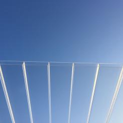 PLEXIGLAS® RESIST Stegplatten 16-64 Diffus D-Struktur