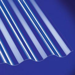 Polycarbonat Wellplatte 1,3 mm Sinus 76/18 klar 1,3 mm Sinus 76/18 klar