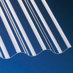 PVC Profilplatten Sinus 76/18 1,1mm klar für Terrassenüberdachung, Pergola und mehr