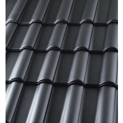 Röben Dachziegel Bari anthrazit engobiert - Flachdachziegel