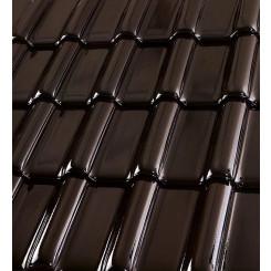 Röben Dachziegel Flandernplus brazil Glasur - Groß-Flachdachziegel