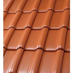 Röben Dachziegel Flandernplus rot engobiert - Groß-Flachdachziegel
