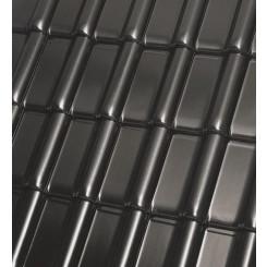 Röben Dachziegel Monzaplus schwarz - Flachdachziegel