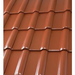 Röben Dachziegel Piemont kupfer-rotbraun - Flachdachziegel