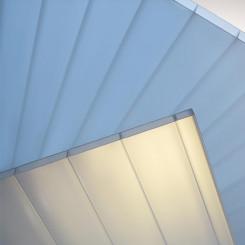 PLEXIGLAS® HEATSTOP Stegplatten AAA 16/64 Cool Blue WZ030 NO DROP