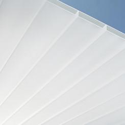 PLEXIGLAS® RESIST Stegplatten AAA SDP 16/64 in weiß und glatter Oberfläche
