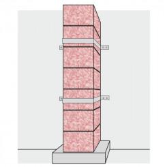 Umspannungsbänder zur Außenwandmontage von Schornsteinsystemen