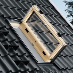 VELUX Wohn- Ausstiegsfenster GXL FK06 3066 Dachfenster ENERGY-STAR, Aluminium, 66x118