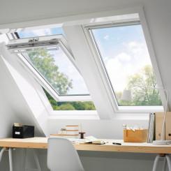 VELUX Klapp-Schwingfenster GGL Holz weiß lackiert