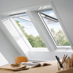 VELUX Klapp-Schwingfenster GPL 2066 Holz weiß lackiert Energy-Star