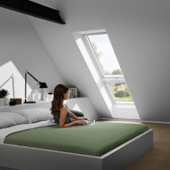 VELUX GIU Dachschräge Zusatzelement | zur Erweiterung von Velux Kunststoff-Dachfenstern GGU nach unten