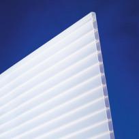 Acrylglas Doppelstegplatten 16/32 Anti-Drop opal-weiß