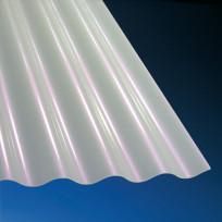 Acrylglas Wellplatten Sunstop 3mm Sinus 76/18 opal-weiß