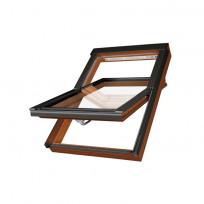FAKRO PTP-V/GO U3 Schwingfenster Kunststoff Eichendekor