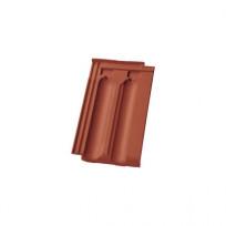 Nelskamp Nibra® Doppelmuldenfalzziegel DS 10 rot engobiert