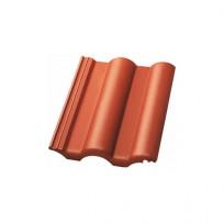 Nelskamp Dachstein Kronen-Pfanne LongLife matt ziegelrot
