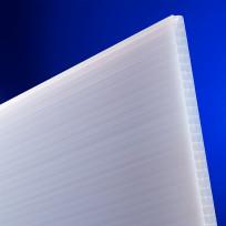 Polycarbonat Hohlkammerplatten Sun 25 mm opal-weiß longlife