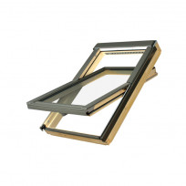 FAKRO Dachfenster FTP-V U5 Schwingfenster Holz natur