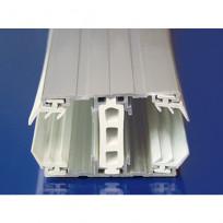 Alu-Verlegesystem für 25 mm Stegplatten, Thermoprofil Mitte