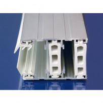 Alu-Verlegesystem für 25 mm Stegplatten, Thermoprofil Rand