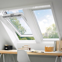 VELUX Schwingfenster GGL 2070Q Einbruchschutz Holz weiß