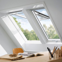 VELUX Klapp-Schwingfenster GPL 2070 THERMO Holz weiß