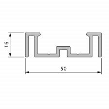 """Unterkonstruktion Alu-Trägerprofil """"Die Kleine"""" 9523"""