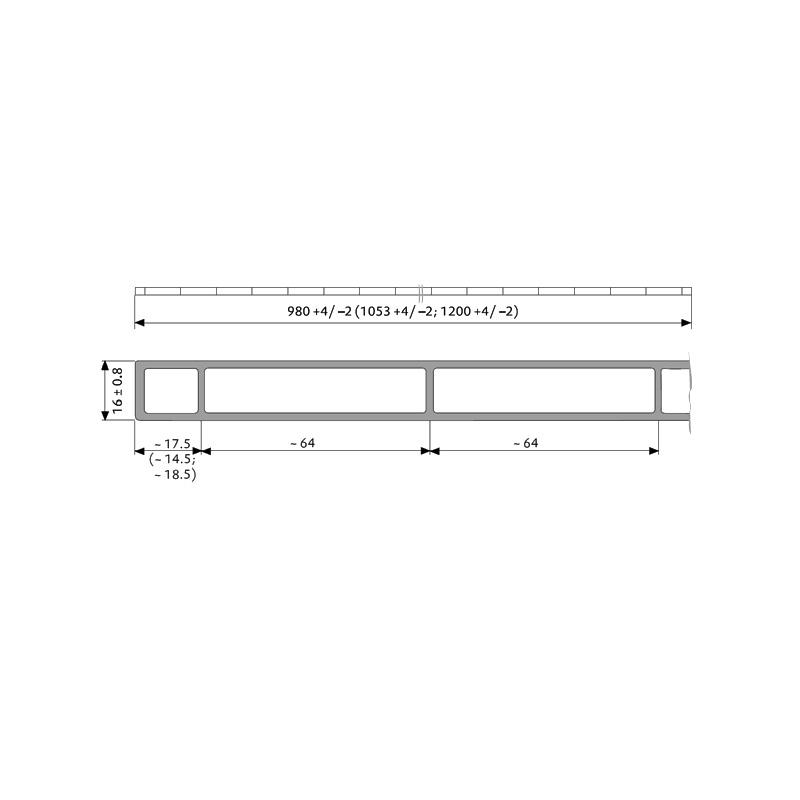 43 50 m stegplatten plexiglas alltop 16mm klar doppelstegplatten acrylglas. Black Bedroom Furniture Sets. Home Design Ideas