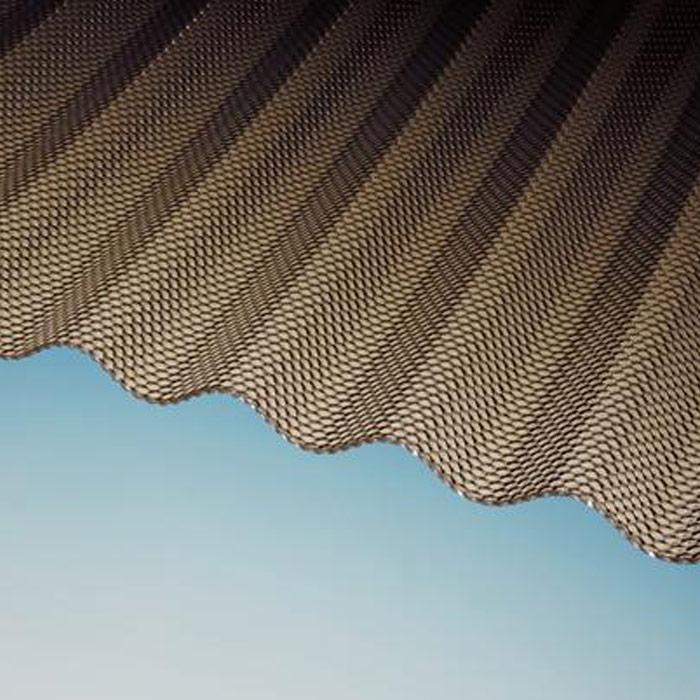 25 50 m wellplatten plexiglas resist wp 76 18 3mm wabe braun acrylglas ebay. Black Bedroom Furniture Sets. Home Design Ideas