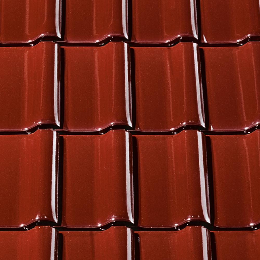 1m dachziegel dach tonetto braun glasiert tondachziegel ziegel ebay. Black Bedroom Furniture Sets. Home Design Ideas