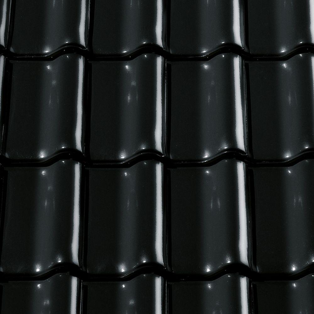 1 0 m dachziegel tonetto schwarz glasiert tondachziegel. Black Bedroom Furniture Sets. Home Design Ideas