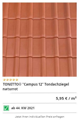 "TONETTO® ""Campus 10"" Tondachziegel naturrot"
