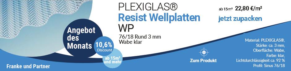 Angebot für Wellplatten aus Plexiglas 76/18 rund, wabe, klar