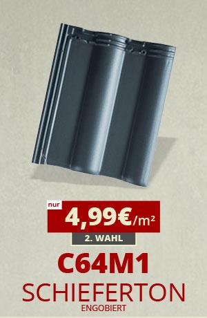 Dachziegel Sonderposten C64m1 schieferton engobiert kaufen