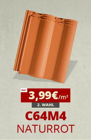 Dachziegel Sonderposten C64m4 naturrot kaufen