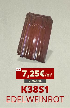 Dachziegel Sonderposten K38S1 edelweinrot kaufen