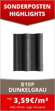 B10P Betondachstein dunkelgrau