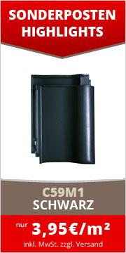C59M1 Tondachziegel schwarz engobiert