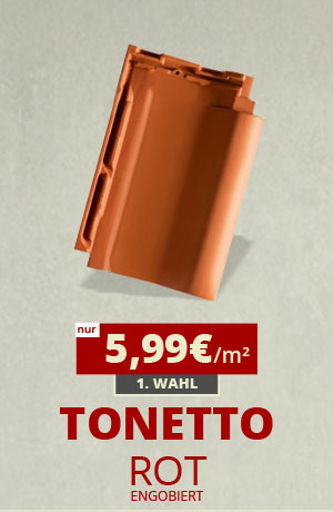 Dachziegel Tonetto rot engobiert kaufen