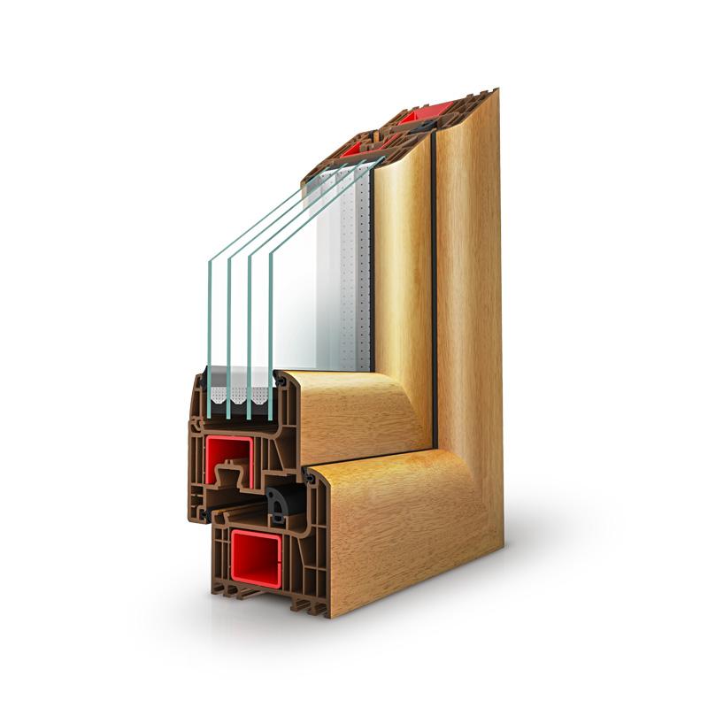 IGLO Energy Classic- Drutex Fenster Querschnitt