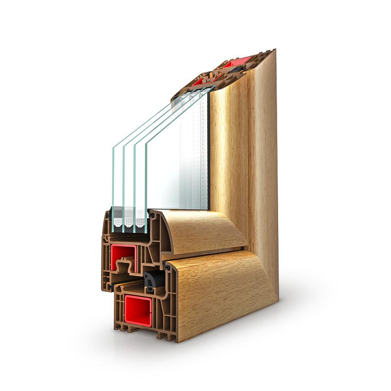 IGLO Energy - Drutex Fenster Querschnitt