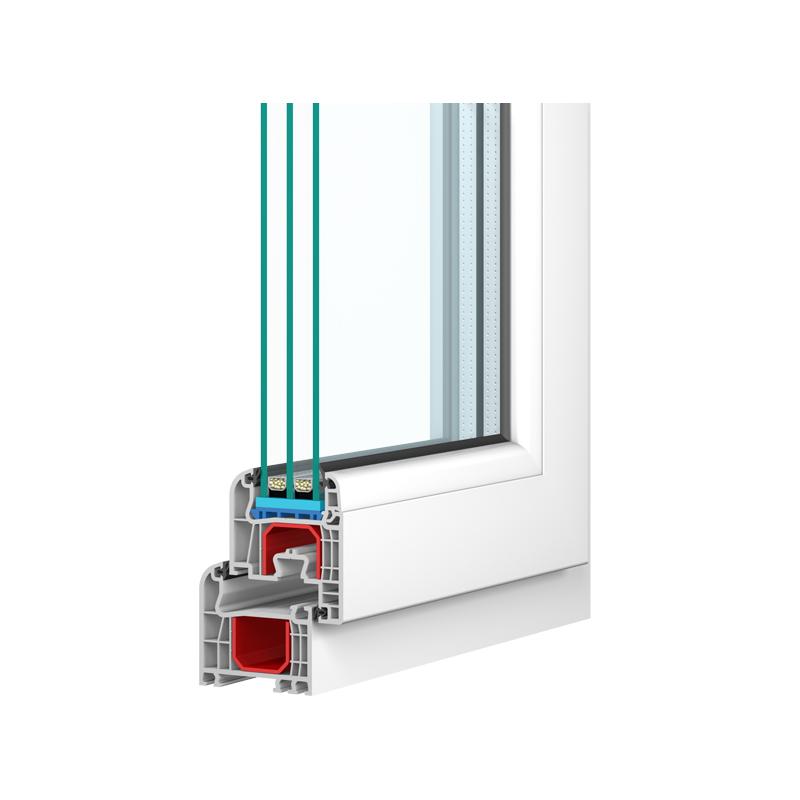 IGLO 5 Classic- Drutex Fenster Querschnitt