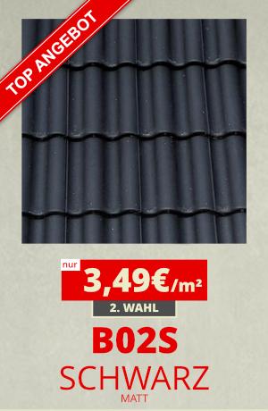 Dachziegel B02S schwarz
