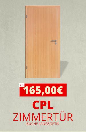 Zimmertür CPL Buche Längsoptik