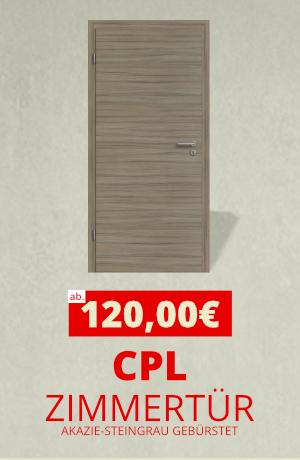 Zimmertür CPL gebürstet Akazie-Steingrau