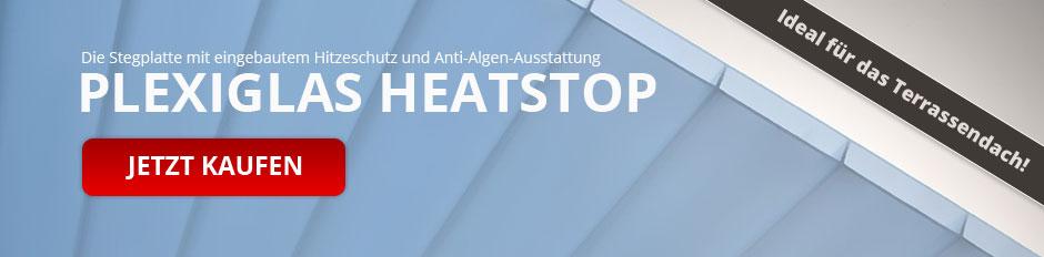 PLEXIGLAS Heatstop Stegplatten mit Anti-Algen-Ausstattung